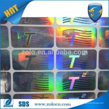 Etiqueta de etiqueta de moda / etiqueta de holograma / papel de etiqueta para venda quente na China
