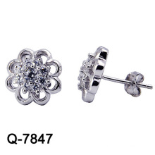 Nueva joyería de plata de los pendientes de la manera del diseño 925 (Q-7847. JPG)