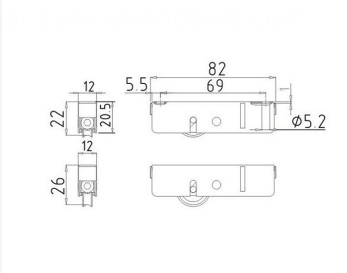 drawing for single wheel roller type11