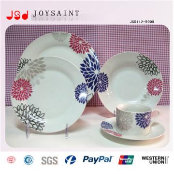 De Buena Calidad Platos de cena plásticos baratos blancos para el restaurante