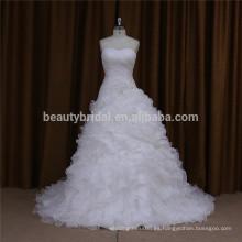 F87028 estilo áfrica volantes vestidos de novia de la vendimia de la boda