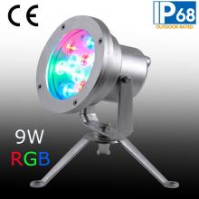 IP68 9W светодиодный подводный свет из нержавеющей стали