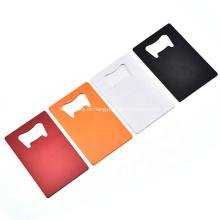 Abridor de garrafas de metal em branco personalizado para cartão de crédito