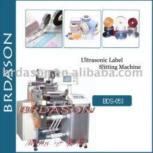 Machine de fente d'étiquette ultrasonique