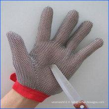 Gants en acier inoxydable pour coupe coupe-boucher