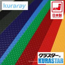 Folha de PVC KURASTAR impermeável para barraca, saco, construção. Fabricado por Kuraray. Feito no Japão (laminado pvc folhas preto)