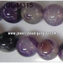 Round agate bead-dark purple