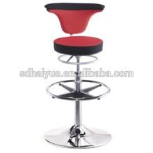 2017 boa qualidade tecido vermelho rodada assento giratória barstool confortável cadeira alta bar