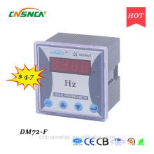 DM72-F 72 * 72mm precio competitivo Exhibición de LED monofásico medidor de frecuencia digital, frecuencia de la CA de la medida