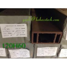 Compostos de madeira do revestimento de madeira de WPC Compósitos plásticos da fibra natural