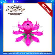 2014 Lotusblumenmusik Feuerwerk Geburtstagstorte Kerze mit hoher Qualität und billigster Preis