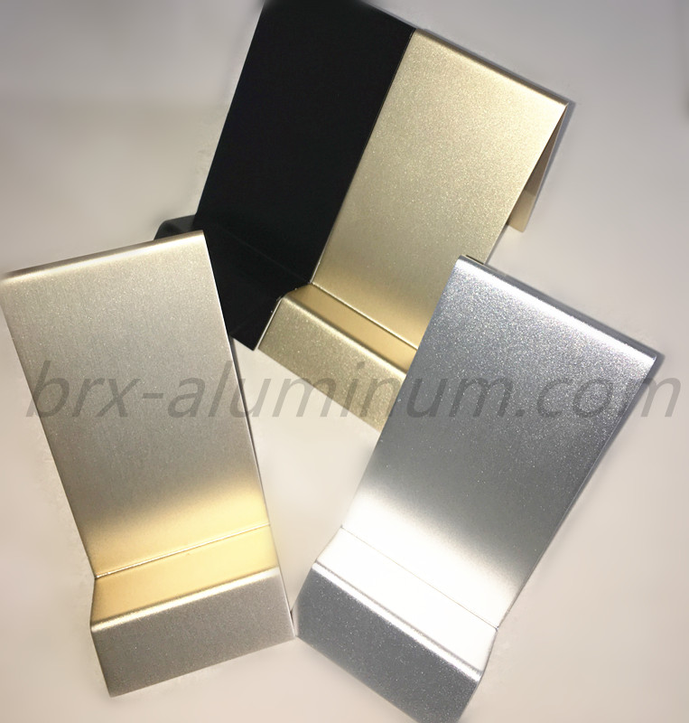 Anodized customized aluminum product