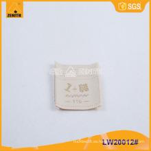 Ropa de alta calidad tejida etiqueta LW20012