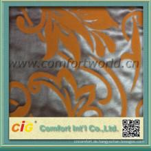 Mode gute Handfeeling Beflockung Polyestergewebe für Polster Vorhang