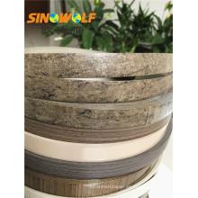 La venta caliente del PVC Woodgrain Edge pega la tira del PVC