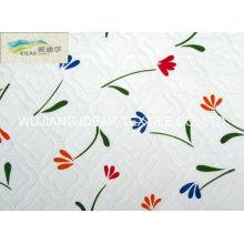 Bordados gamuza impresa enlazado tela para colchón