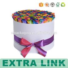 Cardboard Round Hat Flower Preserved Paper Box With Window