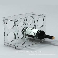 Klare Acryl Weinflasche Display Halter