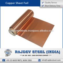 Hoja de cobre estándar de la hoja de la calidad de la exportación en la tarifa al por mayor
