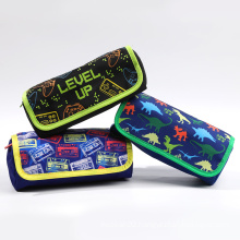 Wholesale Custom Printed Girl Boys Kids Oxford Cloth Pencil Bags Pouch Pen Box Case For School