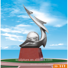2016 Neue Skulptur Moderne abstrakte Qualität Mode Urban Statue Sport Metall Bunte Landschaft Skulptur