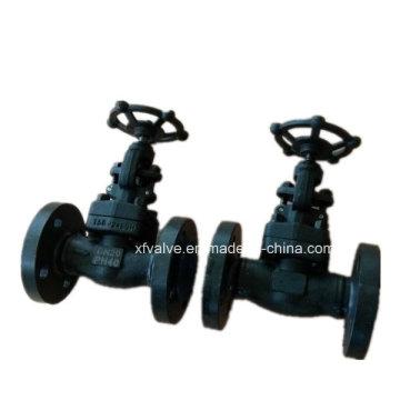Soupape de robinet d'extrémité de connexion de bride forgée en acier au carbone A105