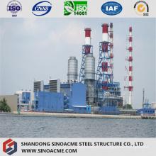 Atelier principal de structure de cadre en acier pour centrale électrique
