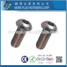 Fabriqué à Taïwan 10.9 Acier au carbone en hexagone Socket Button Head Cap Screw