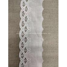Schwere dicke Jacquard-Stickerei Stoff Blume Baumwollspitze