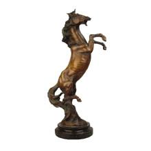 Tier Bronze Skulptur Dekoration Pferd Messing Statue Tpy-368