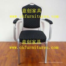 Cadeira de braço de tecido preto (YC-D105)