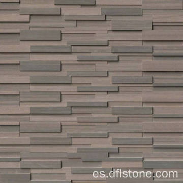 Panel de piedra natural 3D Brown apilada