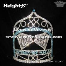 8in Height Crystal Diamonds Custom Pageant Crowns