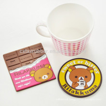 cartoon pvc beer coaster, heat insulation coaster