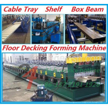 Cable Tray & Shelf & Box Beam & Floor Decking Roll Forming Machine
