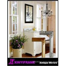 Victorican fashion wood wall handcraft gold salon mirror station