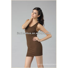 Estilo europeu vestido de festa de moda, barato tricotar mulheres sem costura vestido de noite curto