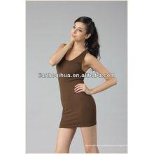 Платье партии способа европейского типа, дешевое платье вечера краткости женщин безрукавное короткое