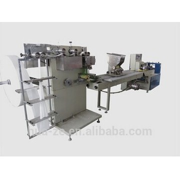 Single wet wipe packaging machine