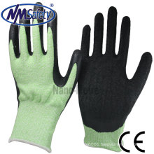 NMSAFETY Anti cut PU work gloves level 5 PPE safety gloves EN388 4543