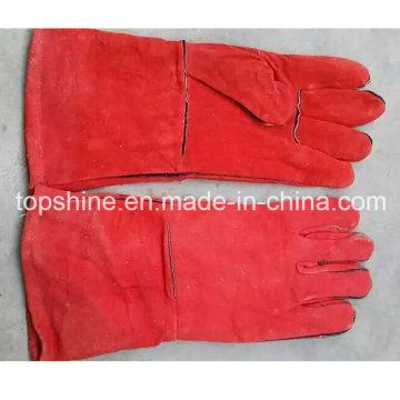 Welding Worker Fashion Labor Industrial Safety Cowhide Split Leather Gloves