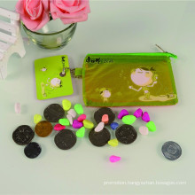 Popular plastic printed clear promotional squeeze coin purse