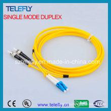 LC-St дуплексная оптоволоконная перемычка, соединительный кабель