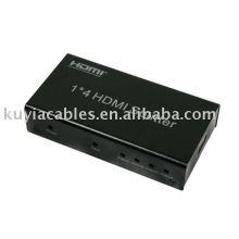 1x4 HDMI Audio/Video Splitter/4 Port HDMI Splitter High Def - 1.3 - 1080P - DTS 7.1