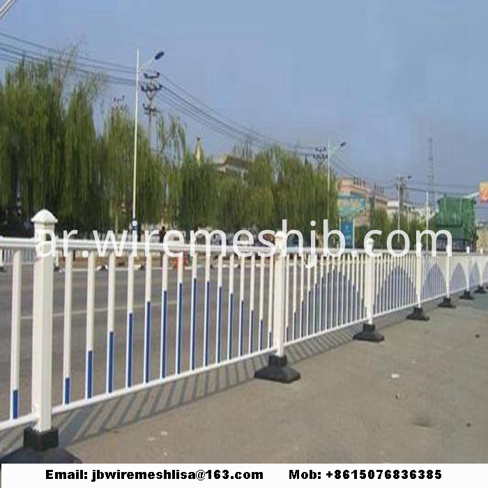 Powder Coated Traffic Zinc Steel Fence