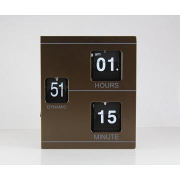 Metallbuchform Flip Clock