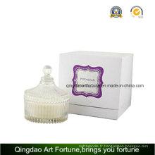 Bougie Candy Jar en verre rempli pour décoration intérieure Promotion mariage