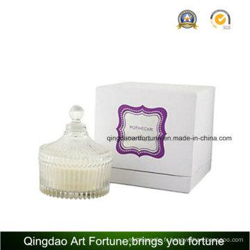 Bougie de verre à parfum de luxe en boîte cadeau