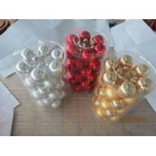 Set 36 bola de vidro de cor única para o Natal