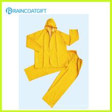 2шт желтый полиэфира PVC rainsuit ПВХ